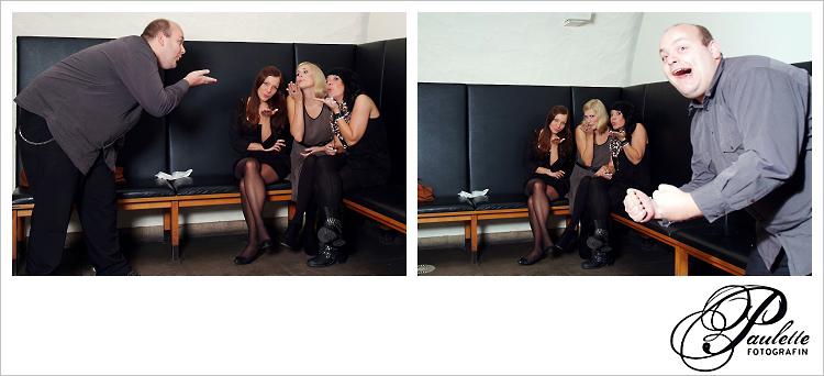 Luftkuss, die Mädels haben Spass im Photobooth zur 30. Geburtstagsfeier Party im Museumskeller Fulda.