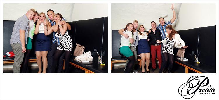 Die Russen haben Spass im Photobooth zur 30. Geburtstagsfeier Party im Museumskeller Fulda.