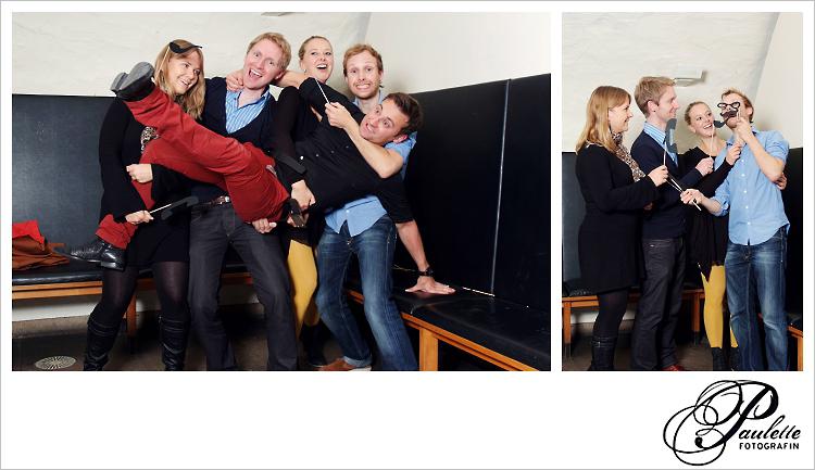 Das Geburtstagskind wird von den Gästen getragen, Spass im Photobooth zur 30. Geburtstagsfeier Party im Museumskeller Fulda.