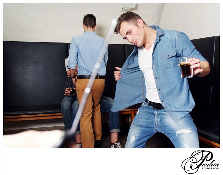Neues Boyband Mitglied, posen im Photobooth zur 30. Geburtstagsfeier Party im Museumskeller Fulda.