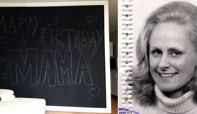 Happy Birthday Mama Kreidetafel.