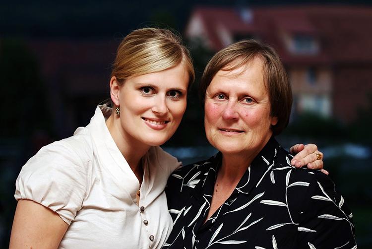 Mama und Paulette Fotografin Portrait in Fulda.