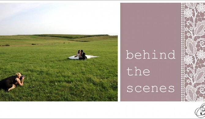 behind the scenes beim Hochzeitsshooting der Hochzeitsfotografin Paulette Wise