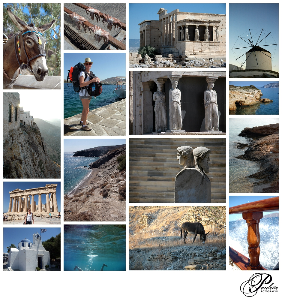 Destination Wedding Photographer in the Greek Kyklades on Ios and Santorini from Athens.